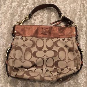 Coach monogram hobo bag. Excellent condition.